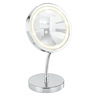 Price Check Brolo LED Standing Cosmetic Mirror By Wenko Inc