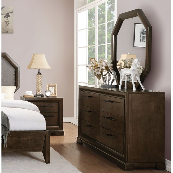 Bloomington 6 Drawer Double Dresser With Mirror by Foundry Select