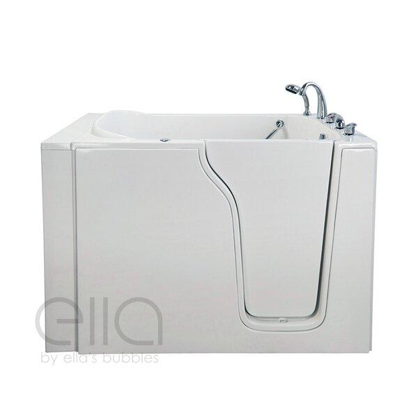 Bariatric 33 54.25 x 40 Whirlpool and Air Massage Walk In Bathtub by Ella Walk In Baths