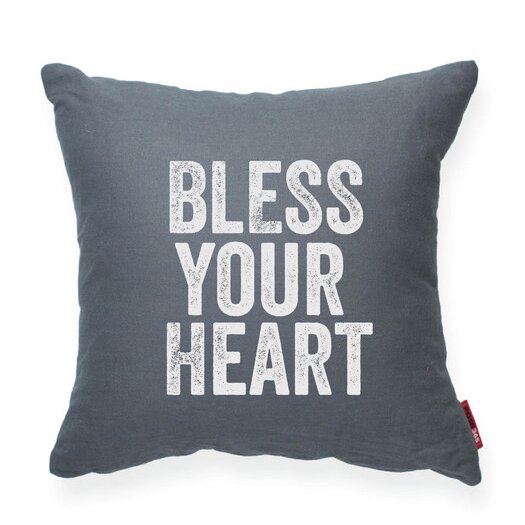 Expressive Bless Your Heart Decorative Throw Pillow by Posh365