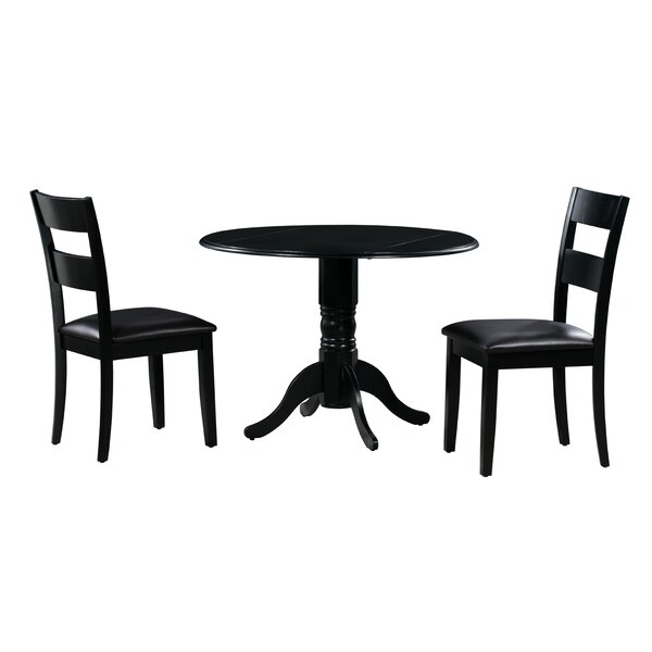 Payton 3 Piece Drop Leaf Solid Wood Dining Set by Alcott Hill Alcott Hill