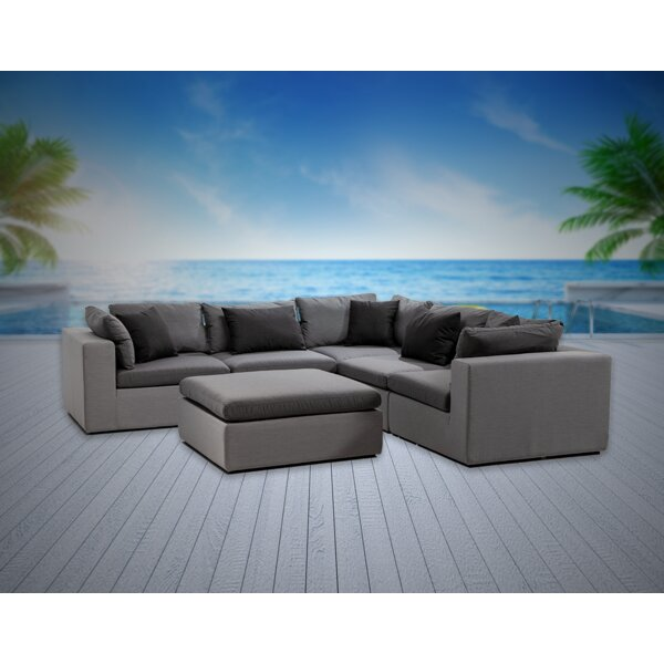 Malani 6 Piece Sunbrella Sectional Seating Group with Sunbrella Cushions by Brayden Studio