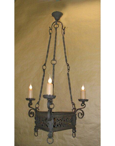 Granados 3 - Light Candle Style Wagon Wheel Chandelier By Fleur De Lis Living