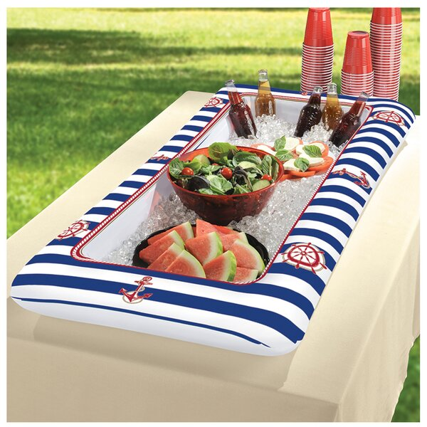 50 Can Summer Nautical Inflatable Cooler by Amscan
