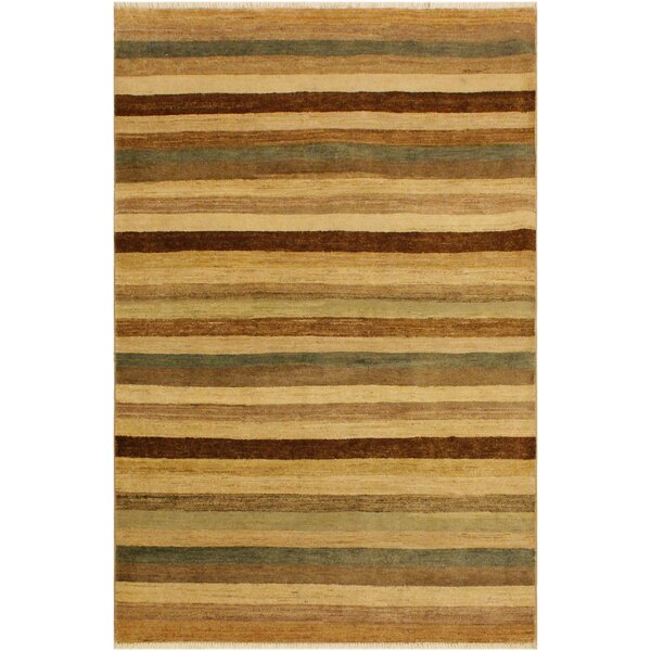 One-of-a-Kind Abigale Hand-Knotted Wool Red/Green Area Rug by Isabelline