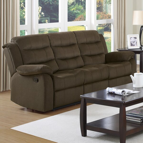 Weekend Promotions Worrall Casual Solid Reclining Sofa by Red Barrel Studio by Red Barrel Studio