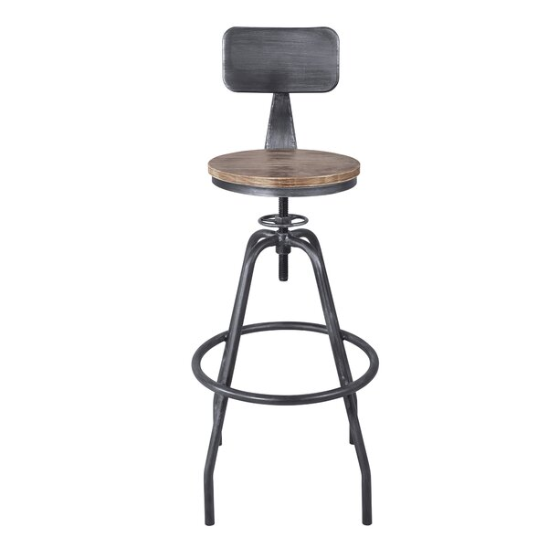Gilliam Adjustable Height Bar Stool by Williston Forge