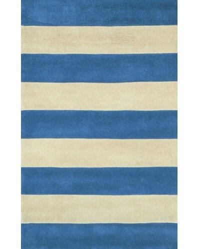 Beach Rug Blue/Ivory Boardwalk Stripes Rug by American Home Rug Co.