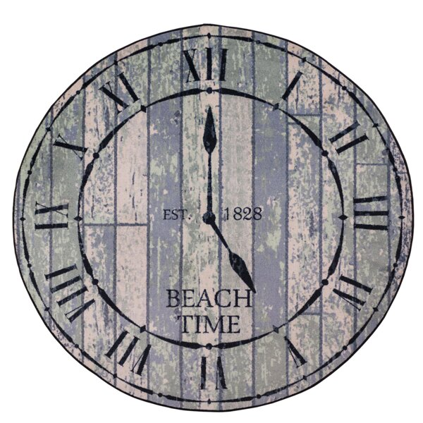 Coastal Beach Time Distressed Area Rug by American Dakota