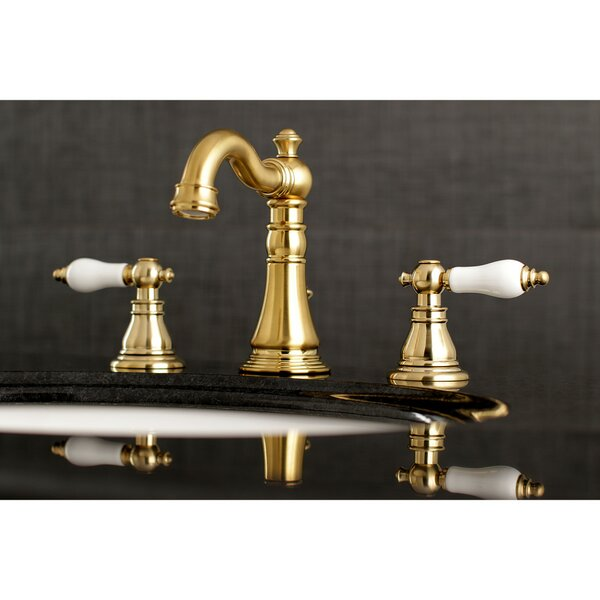 American Patriot Widespread Bathroom Faucet with Drain Assembly