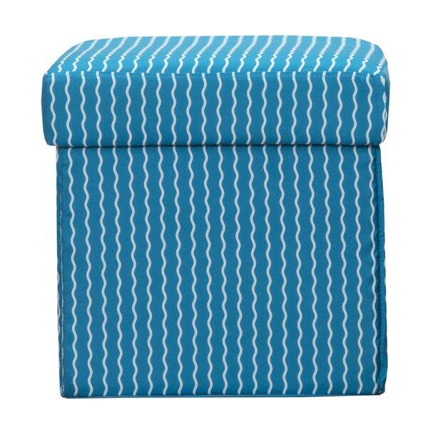 Serpentine Stripe Cerulean Storage Ottoman by Crayola LLC
