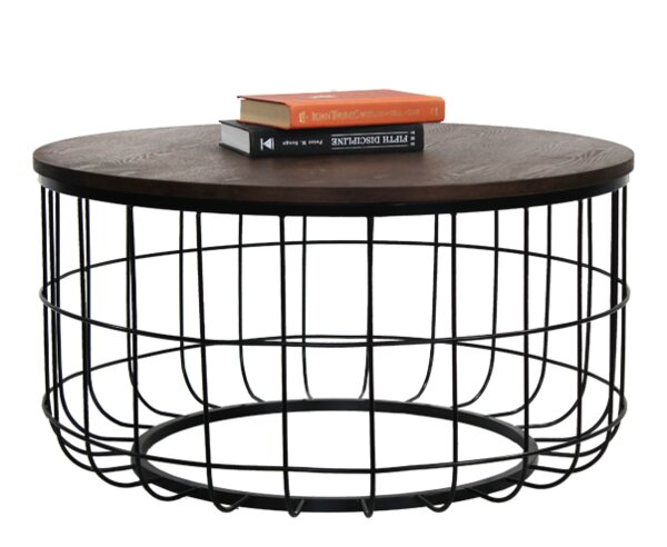 Helsel Industrial Wire Coffee Table by Williston Forge