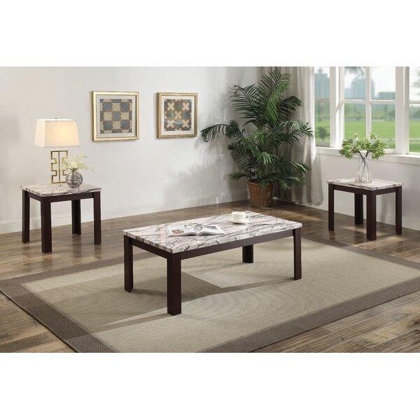 Lulie 3 Piece Coffee Table Set By Fleur De Lis Living