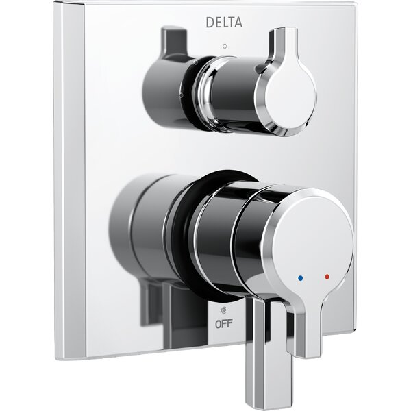 Pivotal Monitor 17 Series Double Handle Valve Trim with 3-Setting Diverter by Delta