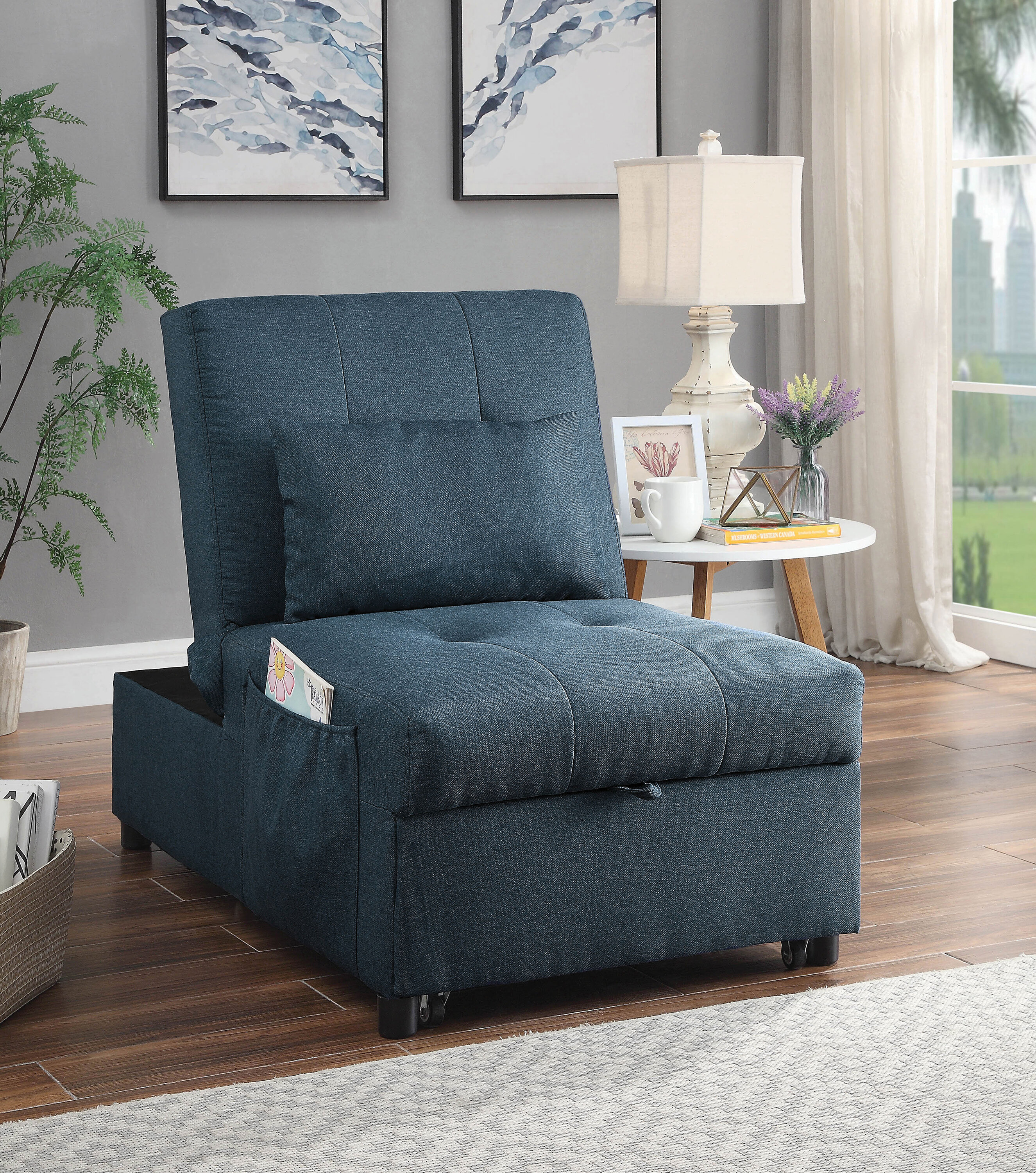 Marchienne Tufted Back Futon Chair