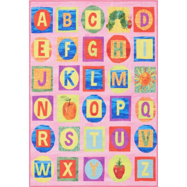 ABCs Educational Pink Area Rug by Eric Carle