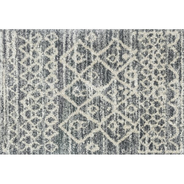 Palmquist Graphite/Beige Area Rug by Bungalow Rose