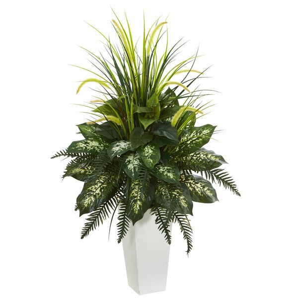 Mixed River Fern and Dogtail Foliage Plant in Tower Planter by Bayou Breeze