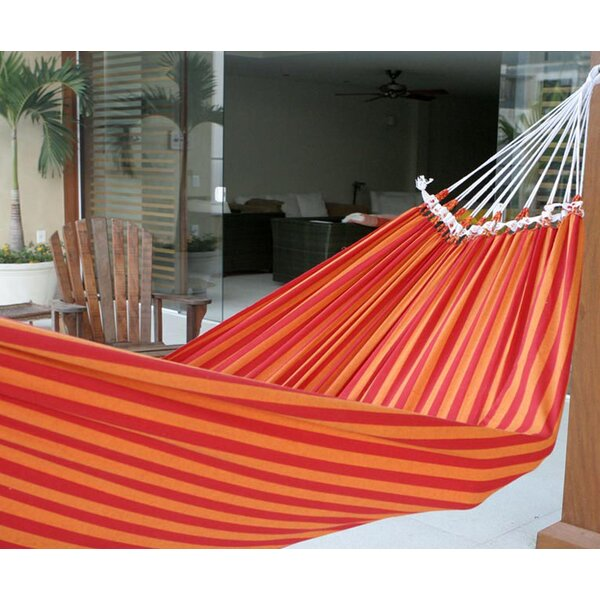 Hand-Crafted Striped Cotton Tree Hammock by Novica