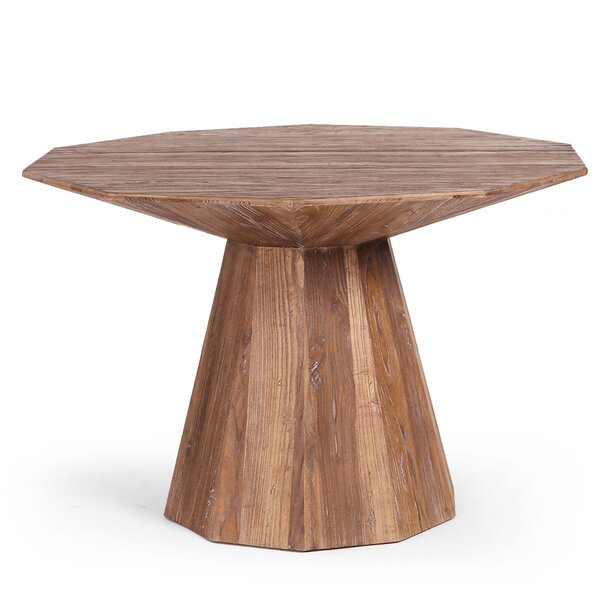 Fahad Solid Wood Dining Table By World Menagerie