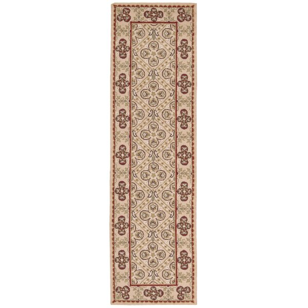 Ehrenfeld Hand-Hooked Gold Area Rug by Darby Home Co