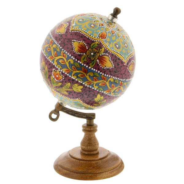 Floral Marble Globe by Bungalow Rose