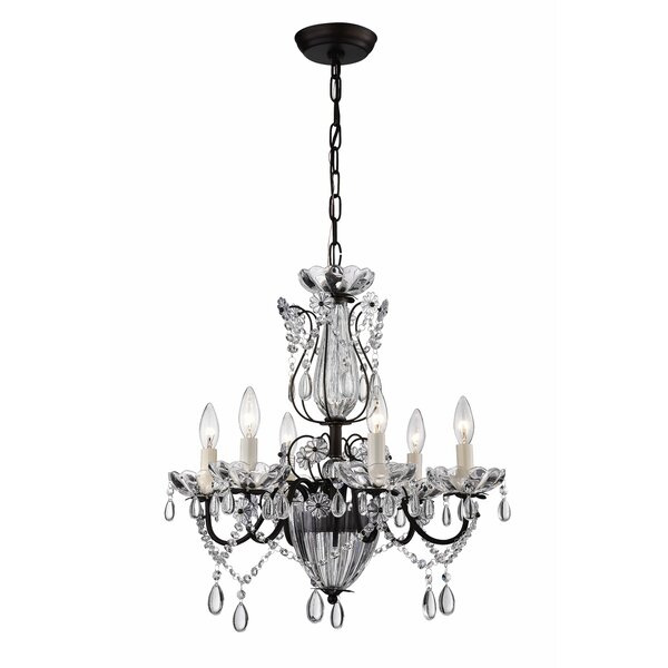 Avila 6-Light Crystal Chandelier by Astoria Grand