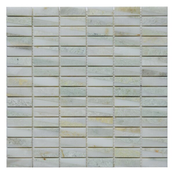 Bamboo 0.63 x 2 Marble Mosaic Tile