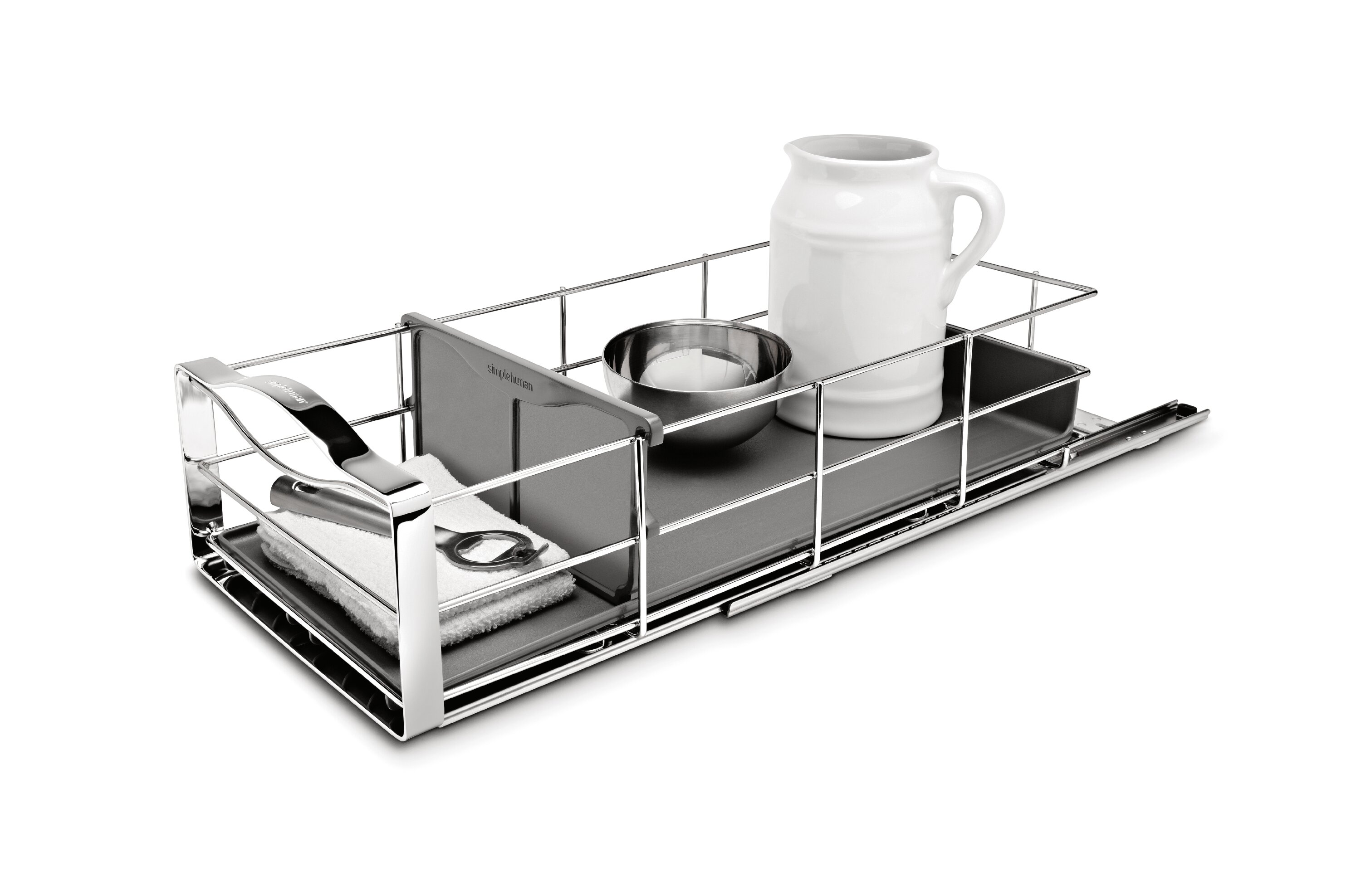 simplehuman 9 inch Pull-Out Cabinet Organizer, Heavy-Gauge Steel ...
