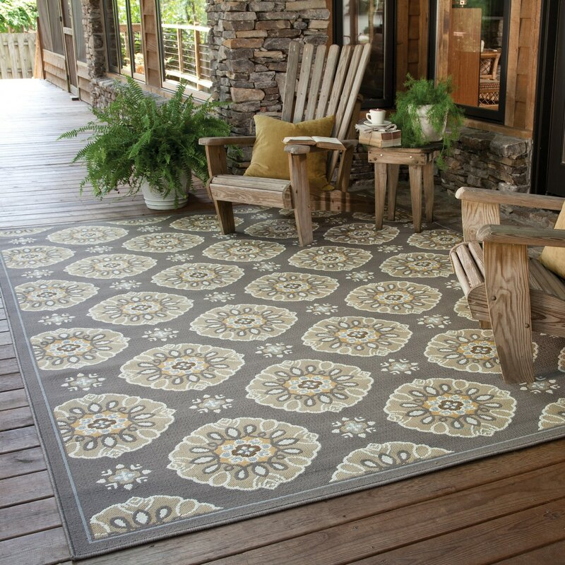 Threadbind Milltown Grey/Gold Indoor/Outdoor Area Rug & Reviews ...
