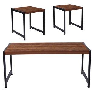 Logue 3 Piece Coffee Table Set Union Rustic
