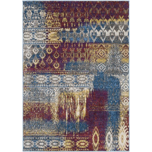Winters Abstract Dark Blue/Dark Purple Area Rug by Bungalow Rose