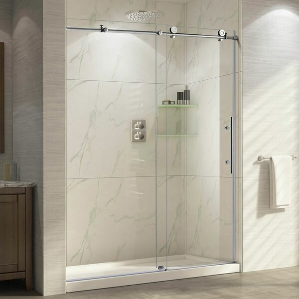 Ultra-C 60'' x 76'' Single Sliding High Shower Door by LessCare