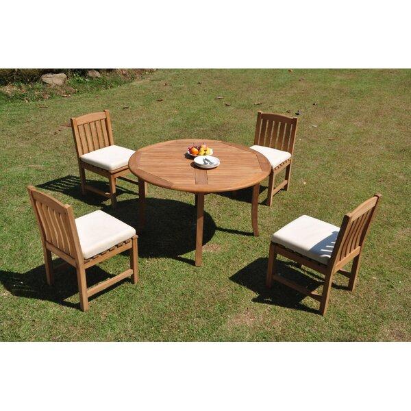 Parkridge 5 Piece Teak Dining Set by Rosecliff Heights