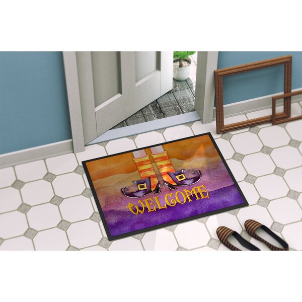 Testa Welcome Witches Feet Doormat by The Holiday Aisle