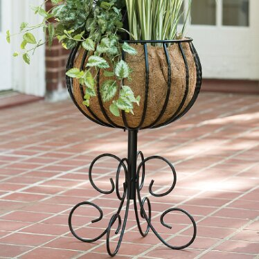 Blacksmith Pedestal Plant Stand by World Source Partners