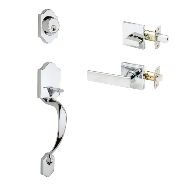 Colonial Style Active Handleset with Remi Lever Interior Trim by Copper Creek