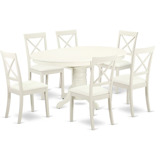 Find Emmaline 7 Piece Solid Wood Dining Set By Alcott Hill Today Only Sale