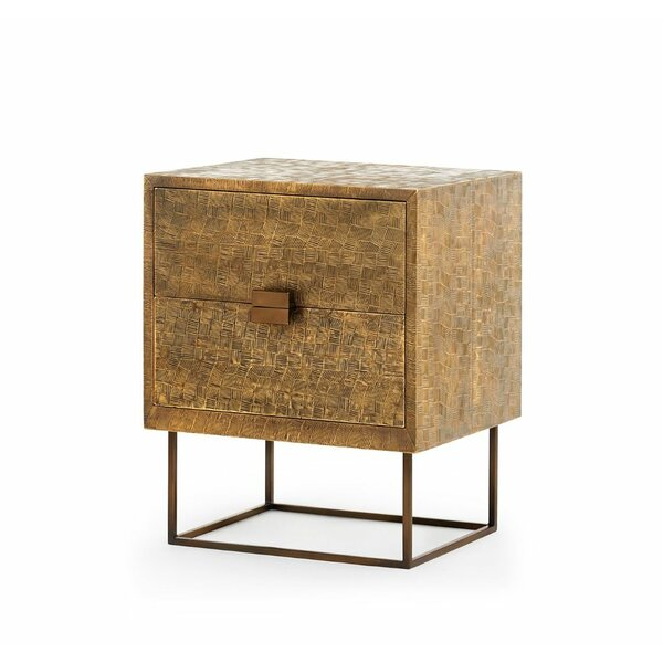 Cubic End Table with Storage by Bungalow 5