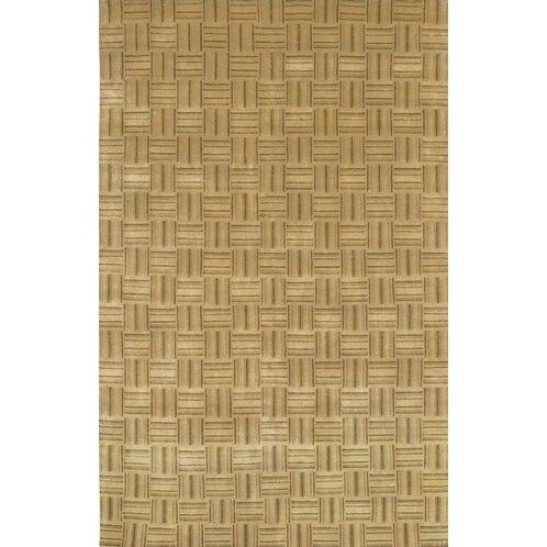 Caines Wool Tan/White Area Rug by Fleur De Lis Living