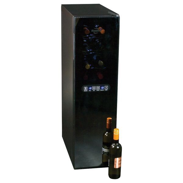 18 Bottle Dual Zone Freestanding Wine Refrigerator By Koolatron