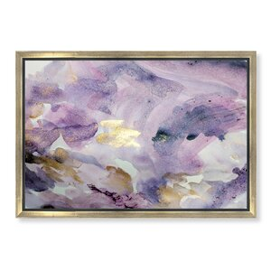 'Carried Away Amethyst' Framed Painting Print on Canvas by Rosdorf Park