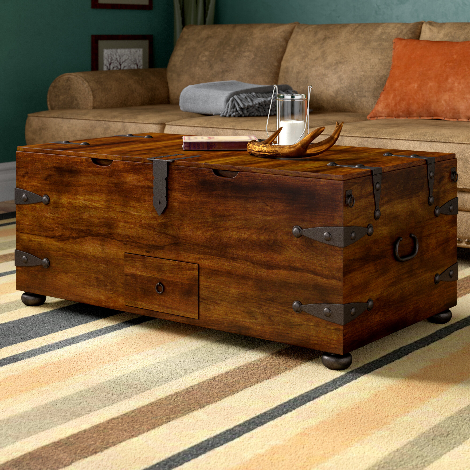 World Menagerie Castrejon Solid Wood Lift Top Coffee Table With Storage Reviews Wayfair
