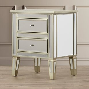 Borkholder Mirrored 2 Drawer End Table