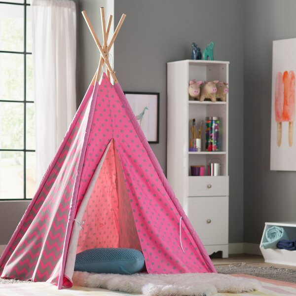 Kadin Chevron & Dots Kid Play Teepee with Carrying