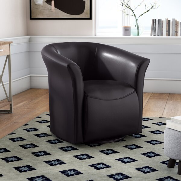 Elisha Swivel Barrel Chair By Wade Logan Best Choices
