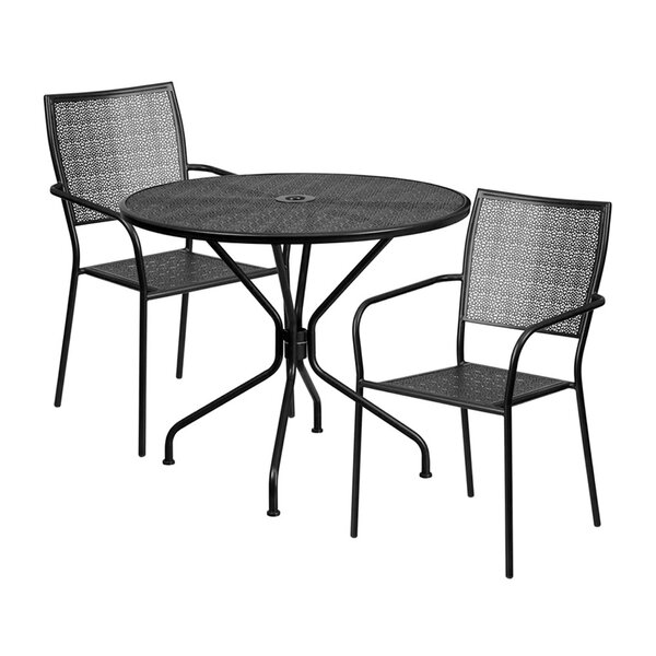 Spengler Outdoor Steel 3 Piece Dining Set by Winston Porter