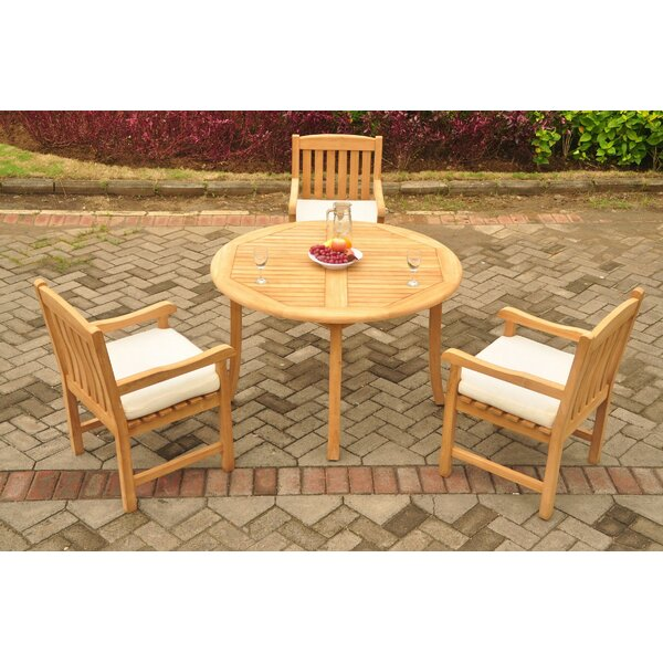 Panama 4 Piece Teak Dining Set by Rosecliff Heights