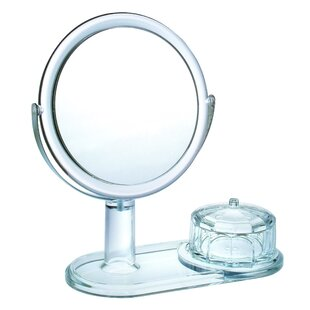 Magnifying Mirror with Faceted Jewelry Box By Chenco Inc.