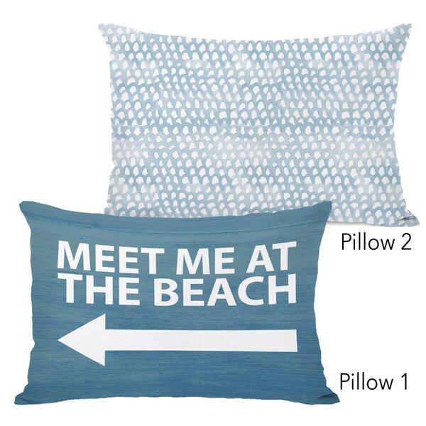 Demelza Meet Me at the Beach Wood and Isla 2 Piece Lumbar Pillow Set by Highland Dunes